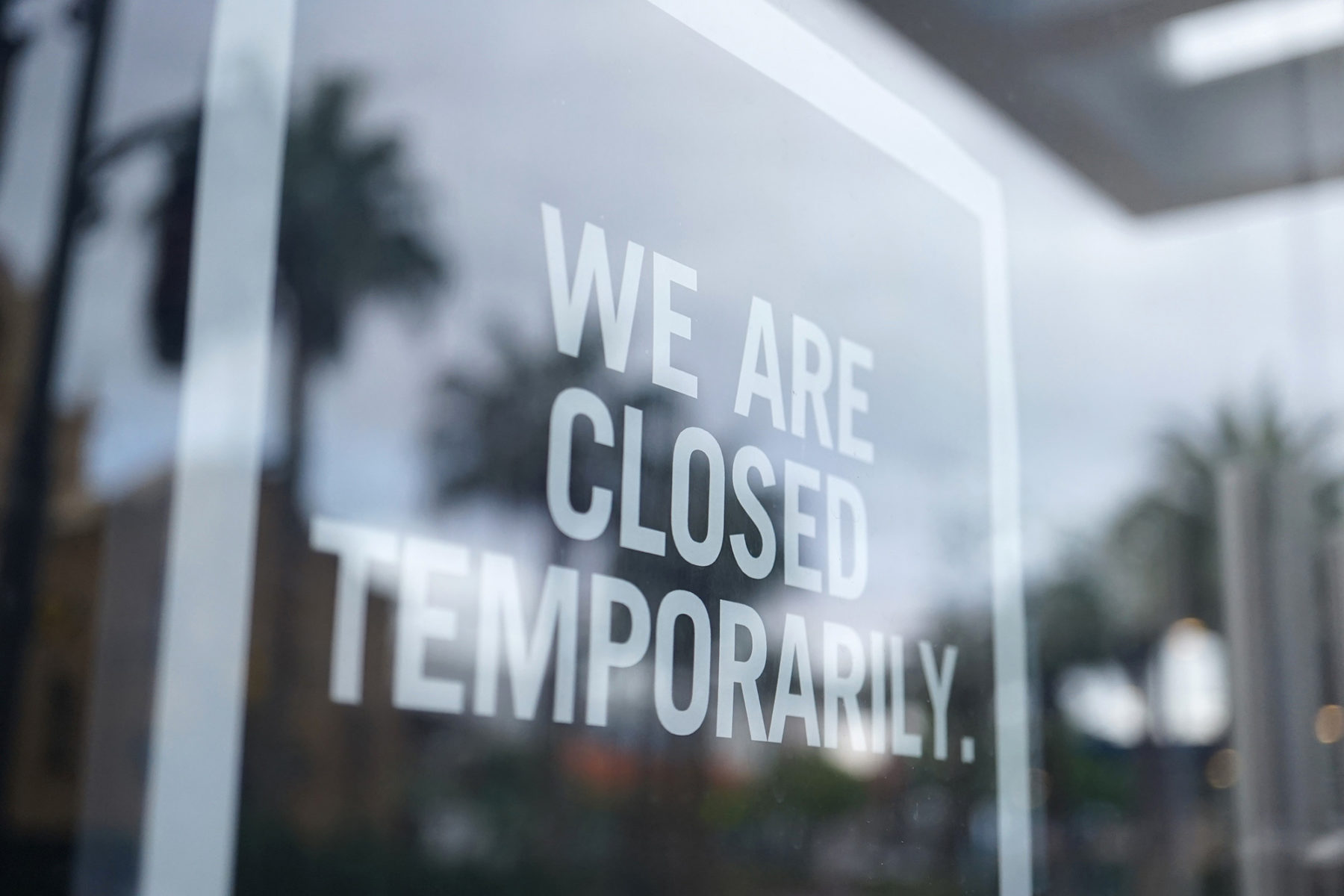 Business closed temporarily after interruption