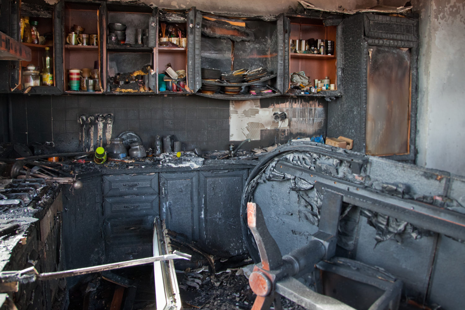 home extensively damaged after a fire in Houston, TX