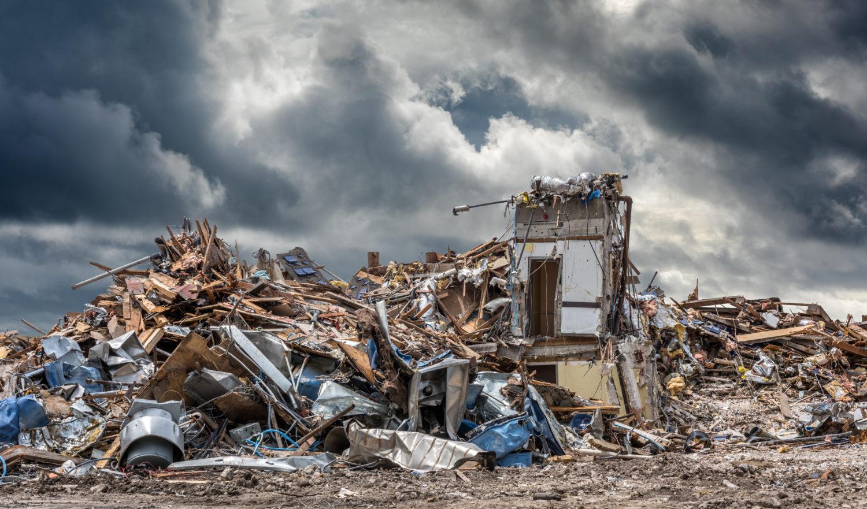 damage left behind by Hurricane Delta