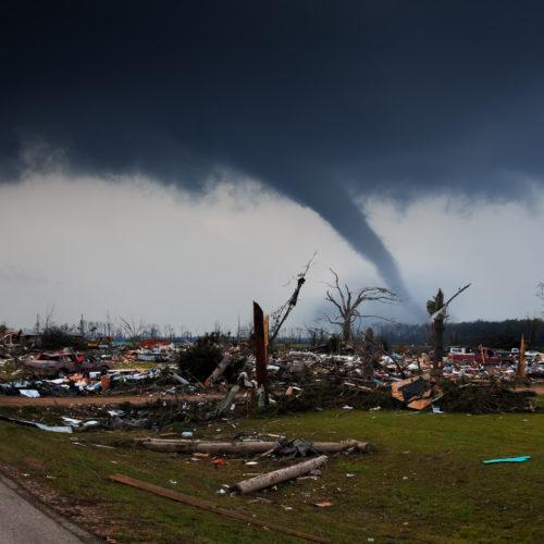 tornado damage left behind in Birmingham, AL