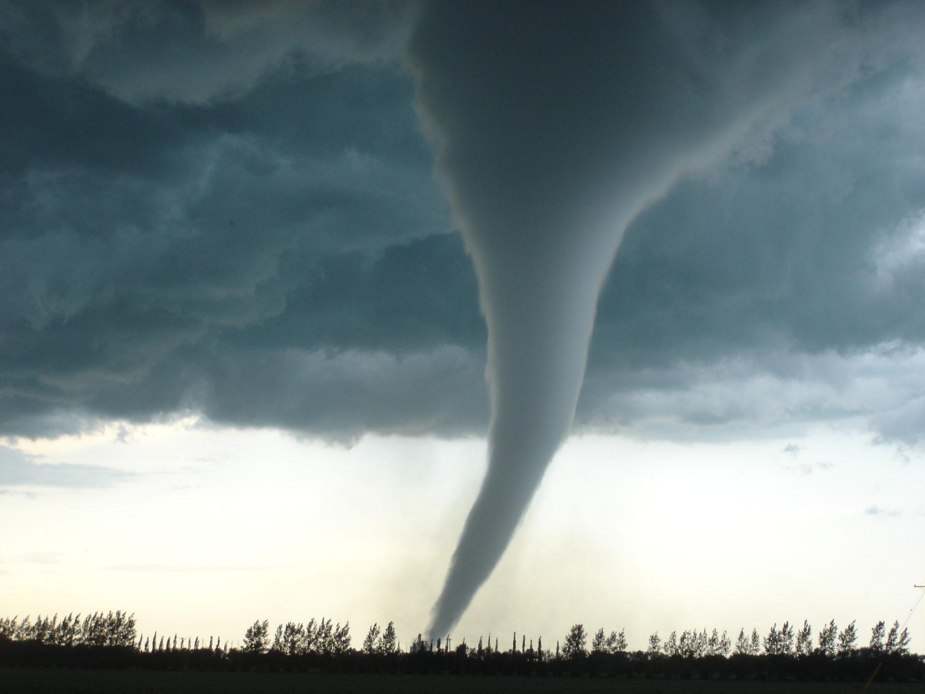 A destructive tornado in Alabama